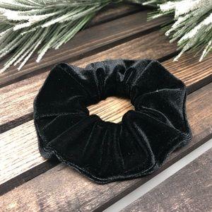 Black Velvet Hair Scrunchies Hair Ties Ponytail